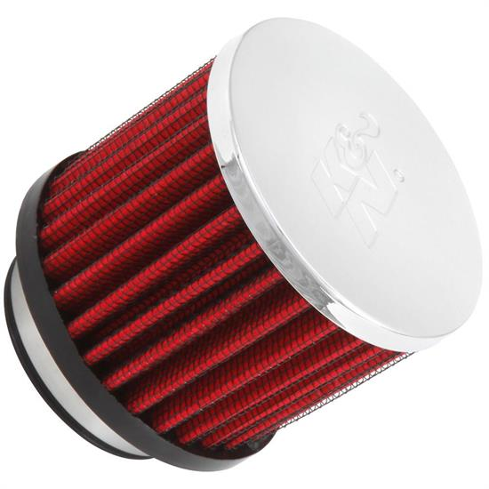 K&N 62-1480 Crankcase Vent Air Filter, 2.5 in. Tall, 3 in. OD