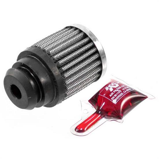 K&N 62-1485 Crankcase Vent Air Filter, 2.25 in. Tall, 2 in. OD