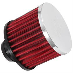 K&N 62-1490 Crankcase Vent Air Filter, 2.5 in. Tall, 3 in. OD
