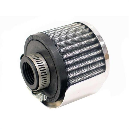K&N 62-1511 Crankcase Vent Air Filter, 2.5 in. Tall, 3 in. OD