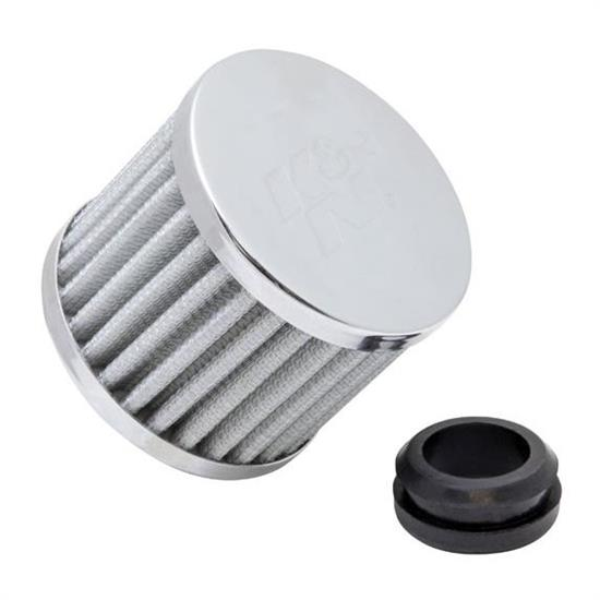 K&N 62-1590WT Synthetic Crankcase Vent Air Filter, 2.5 Tall x 3.0 OD