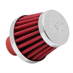 K&N 62-1600RD Synthetic Crankcase Vent Air Filter, 1.75 Tall x 2.0 OD