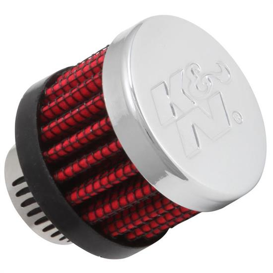 K&N 62-2480 Crankcase Vent Air Filter, 1.125 in. Tall, 1.375 in. OD