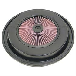 K&N 66-1202 X-Stream Airflow Filter Assembly Top, 1.5 Tall, Round Lid