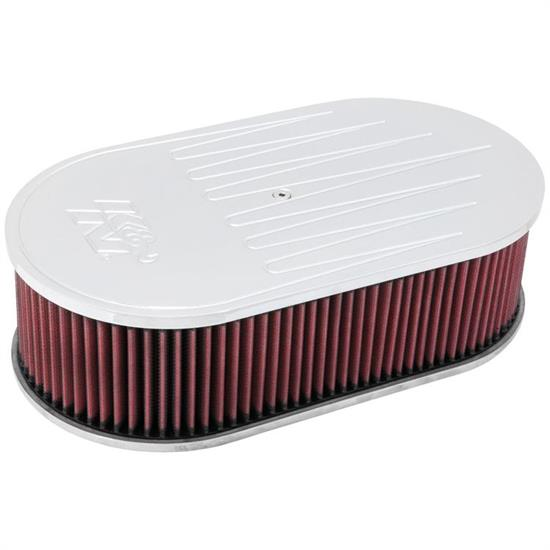 K&N 66-1480 66 Series Air Filter Assembly, 4in Tall, Red, Oval