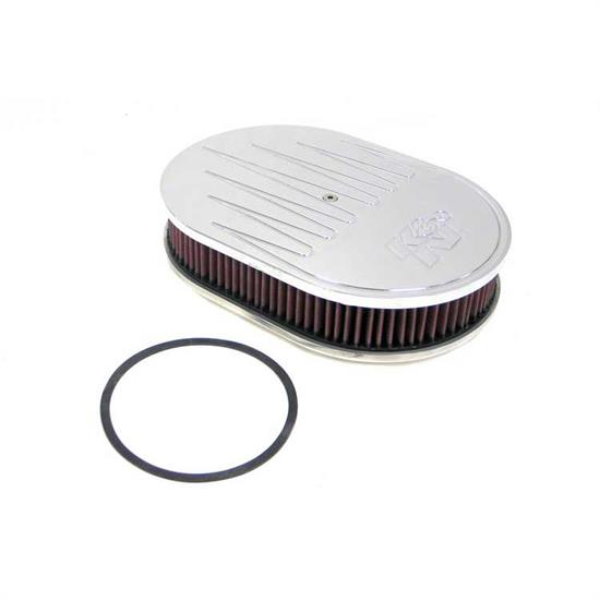 K&N 66-1550 66 Series Air Filter Assembly, 2in Tall, Red, Oval