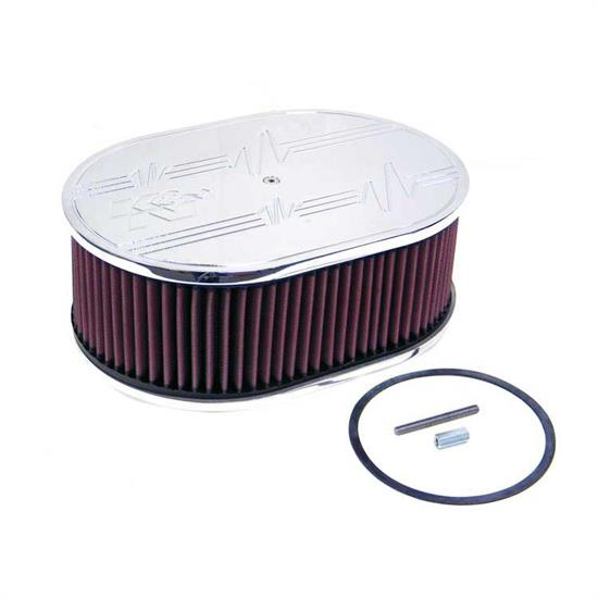 K&N 66-1560 66 Series Air Filter Assembly, 4in Tall, Red, Oval
