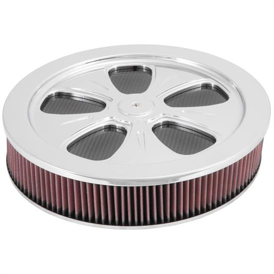 K&N 66-5100 66 Series Air Filter Assembly, 3.063in Tall, Red, Round