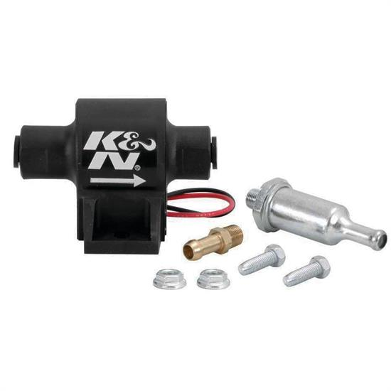 K&N 81-0401 Electric Fuel Pump, Inline, 25 GPH, 4 PSI, 5/16 Inch Line