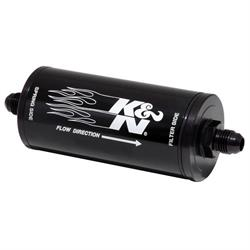 K&N 81-1000 Fuel Filter, 2 in. OD, 6 in. Long, 25 Micron, -6 AN