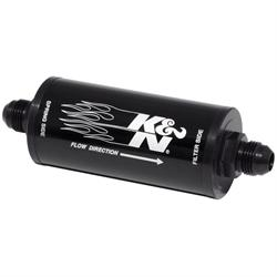 K&N 81-1001 Fuel Filter, 2 in. OD, 6 in. Long, 25 Micron, -8 AN