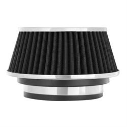 Spectre 8161 Conical Filter, Black, 2.625 Tall, Round Reverse Tapered