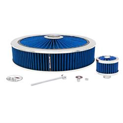 Spectre 847626 Extraflow Air Filter Assembly, 3in Tall, Blue, Round