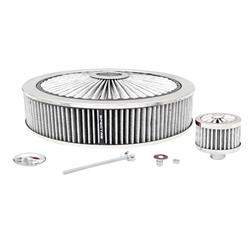 Spectre 847628 Extraflow Air Filter Assembly, 3in Tall, White, Round