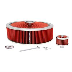 Spectre 847632 Extraflow Air Filter Assembly, 4in Tall, Red, Round