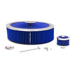 Spectre 847636 Extraflow Air Filter Assembly, 4in Tall, Blue, Round