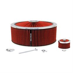 Spectre 847642 Extraflow Air Filter Assembly, 5in Tall, Red, Round