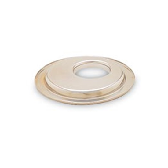 K&N 85-3540 Air Cleaner Base Plate, 14 Inch, 5-1/8 Inlet, Flat Offset