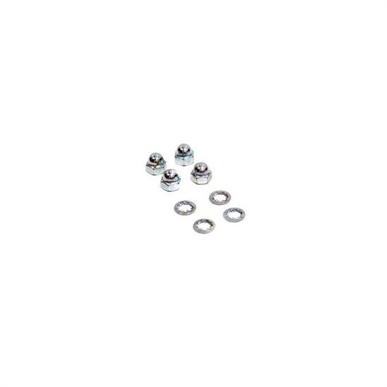 K&N 85-5015 Steel Chrome Plated Wing Nuts, 5mm Thread, Set of 4