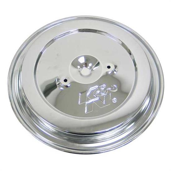 K&N 85-6844 Air Cleaner Top Plate, Chrome
