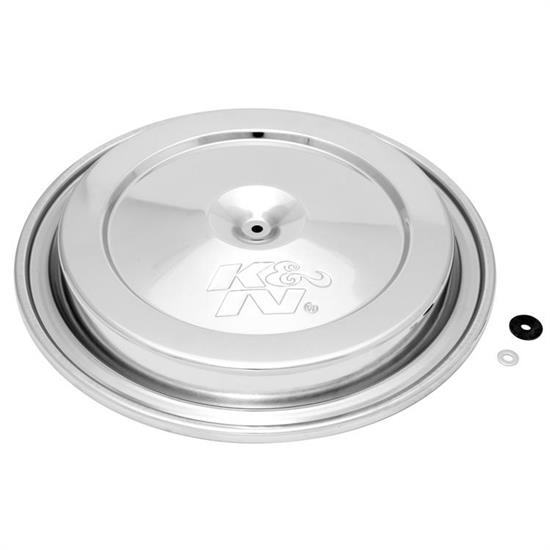 K&N 85-6846 Air Cleaner Top Plate, 14 Inch Dia, Chrome, Chevy/GMC