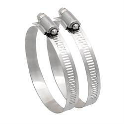 Spectre 9704 Hose Clamps, Stainless Steel, 4 Inch, Pair