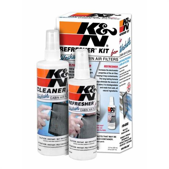 K&N 99-6000 Cabin Filter Cleaning Care Kit, Cleaner/Refresher