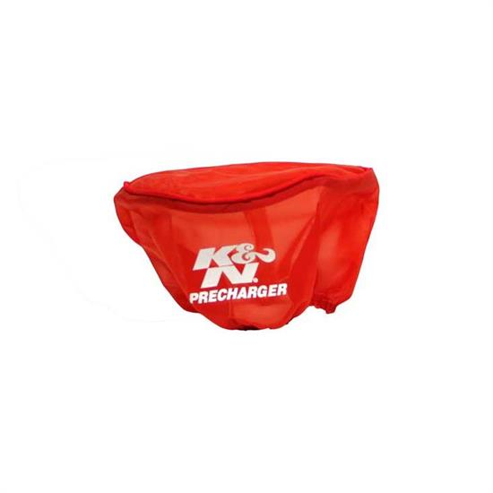 K&N E-2510PR PreCharger Air Filter Wrap, 4in Tall, Red