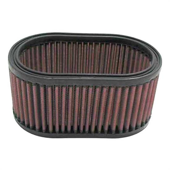 K&N E-3341 Lifetime Performance Air Filter, 3.313in Tall, Oval