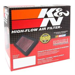 K&N E-3450 Lifetime Performance Air Filter, 2.5in Tall, Round