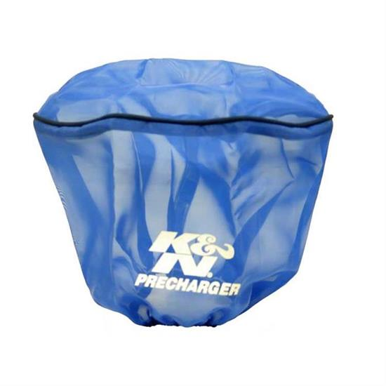K&N E-3491PL PreCharger Air Filter Wrap, 6in Tall, Blue