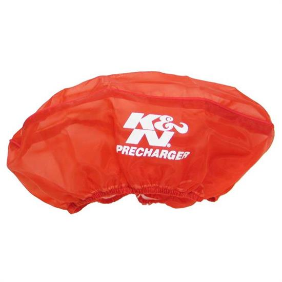 K&N E-3671PR PreCharger Air Filter Wrap, 3.5in Tall, Red
