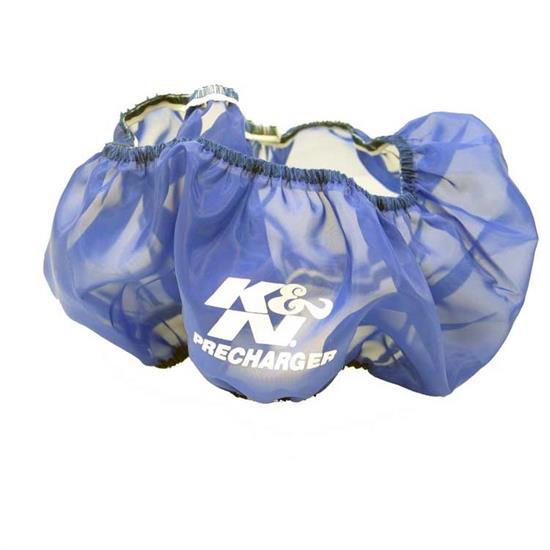 K&N E-3750PL PreCharger Air Filter Wrap, 4in Tall, Blue