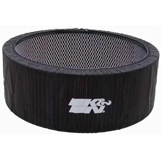 K&N E-3760PK PreCharger Air Filter Wrap, 5in Tall, Black