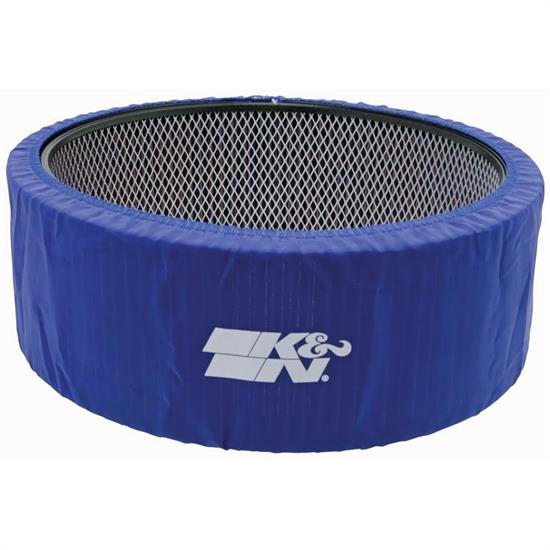 K&N E-3760PL PreCharger Air Filter Wrap, 5in Tall, Blue