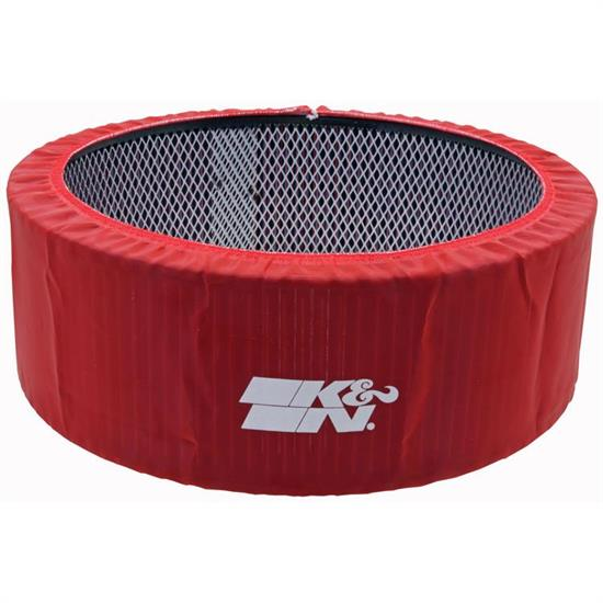 K&N E-3760PR PreCharger Air Filter Wrap, 5in Tall, Red