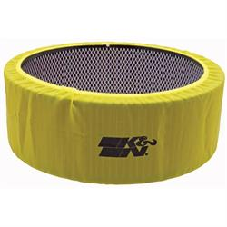 K&N E-3760PY PreCharger Air Filter Wrap, 5in Tall, Yellow