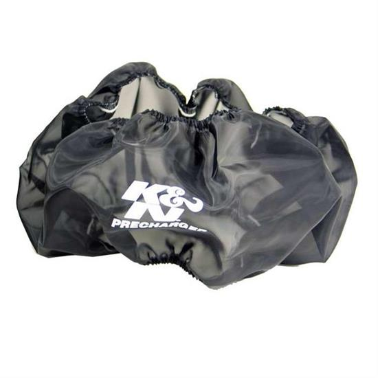 K&N E-3770PK PreCharger Air Filter Wrap, 6in Tall, Black