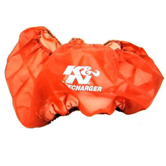 K&N E-3770PR PreCharger Air Filter Wrap, 6in Tall, Red