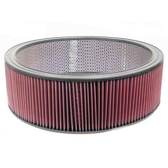 K&N E-3825 Lifetime Performance Air Filter, 6in Tall, Round