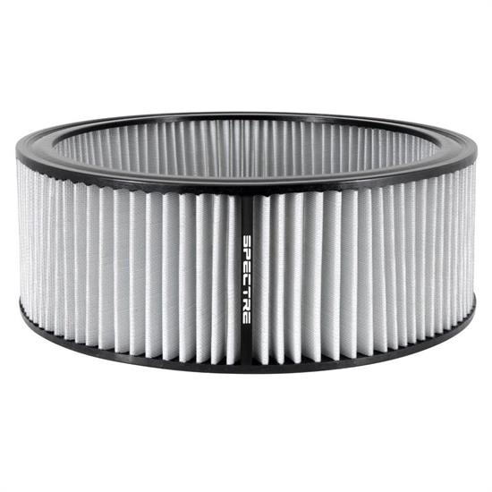 Spectre HPR0139W Performance hpR Air Filter, White, 5in Tall, Round