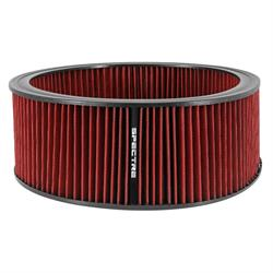 Spectre HPR0139 Performance hpR Air Filter, Red, 5in Tall, Round