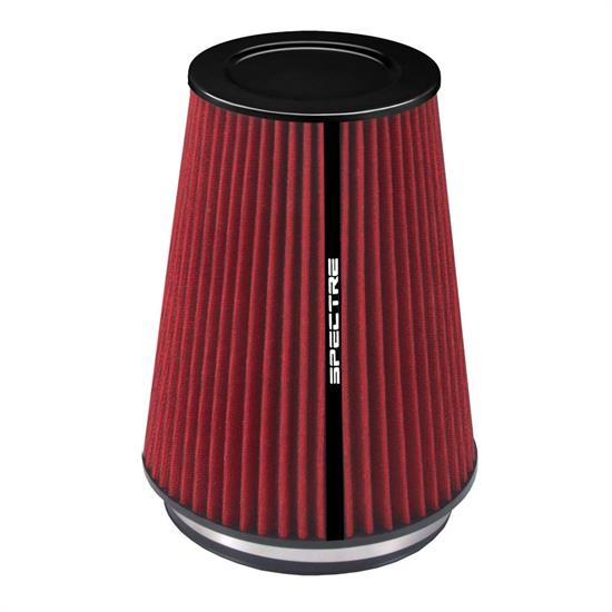 Spectre HPR0881 Conical Filter, Red, 10.25in Tall, Round Tapered