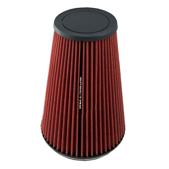 Spectre HPR9605 hpR Air Filter, Red, 10.25in Tall, Tapered Conical