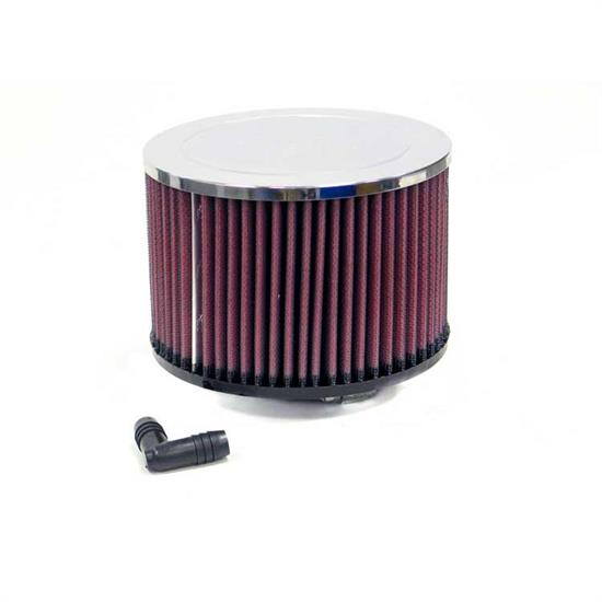 K&N RA-047V Performance Air Filters, 4in Tall, Round