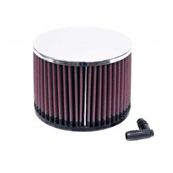 K&N RA-057V Performance Air Filters, 4in Tall, Round