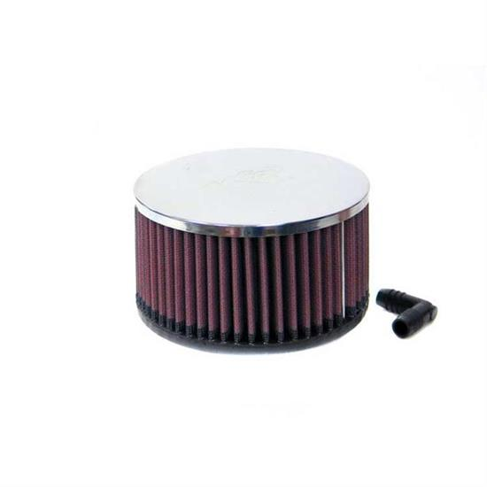 K&N RA-063V Performance Air Filters, 3in Tall, Round