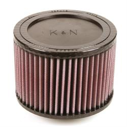 K&N RA-0640 Performance Air Filters, 4in Tall, Round