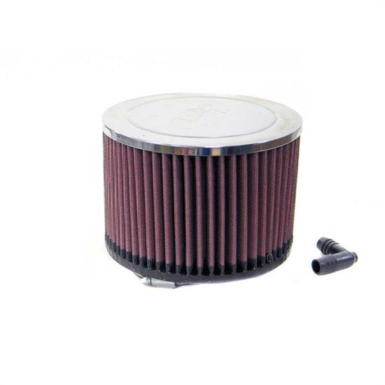 K&N RA-068V Performance Air Filters, 4in Tall, Round