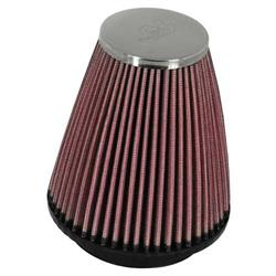 K&N RC-1250 Performance Air Filters, 4in Tall, Round Tapered